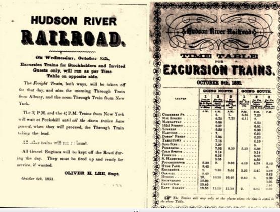 hudsonrivertimetable1851