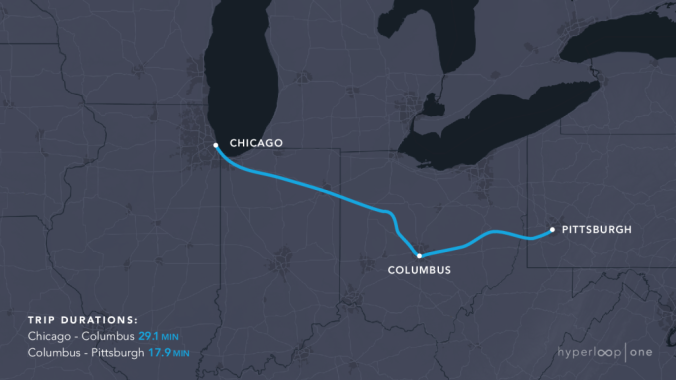 Chicago-Pittsburgh-Hyperloop