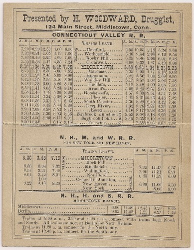 valleyrailroad-first timetable